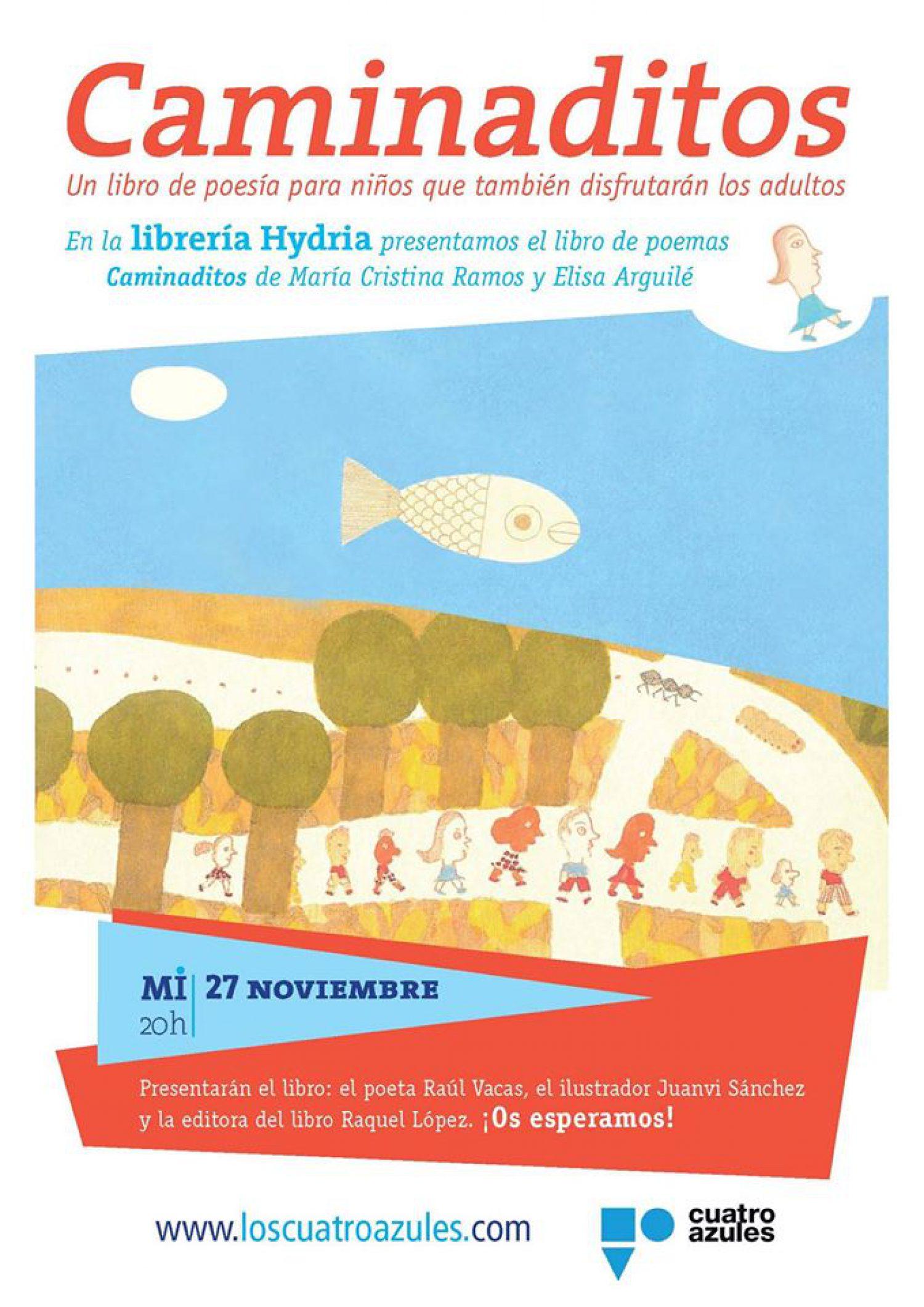 Presentación de Caminaditos en la librería Hydria